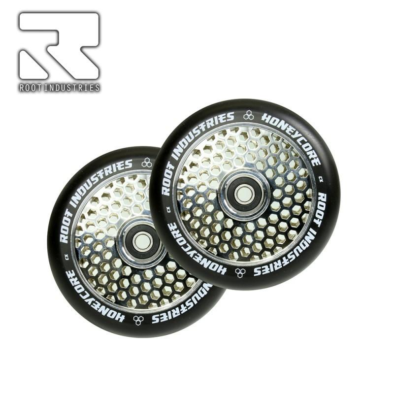 Root Honeycore Wheels Black PU 120mm