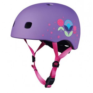 Micro Helm Floral Purple