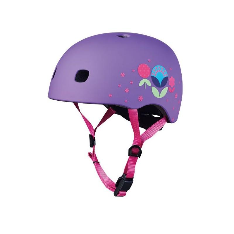 Micro Helm Floral Purple