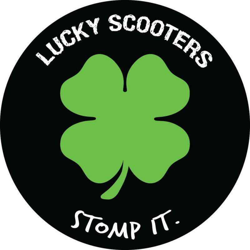Lucky Stomp It Scooter Sticker