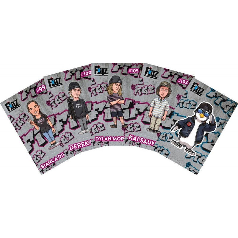 Figz Collection Sticker 6-Pack Set 5